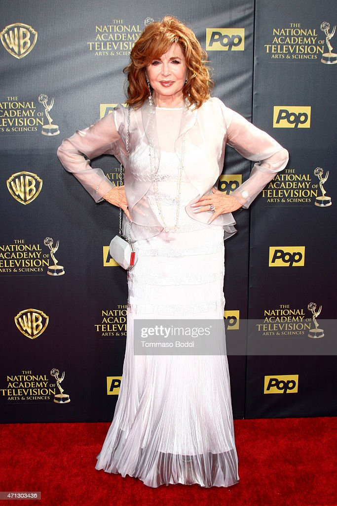 Actress <a gi-track='captionPersonalityLinkClicked' href=/galleries/search?phrase=Suzanne+Rogers+-+Actress&family=editorial&specificpeople=13902592 ng-click='$event.stopPropagation()'>Suzanne Rogers</a> attends the 42nd annual Daytime Emmy Awards held at Warner Bros. Studios on April 26, 2015 in Burbank, California.