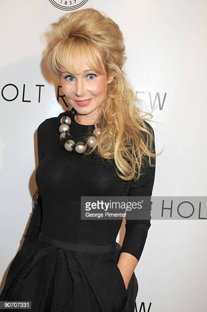 Actress Suzanne Rogers poses at the Holt Renfrew launch of Vignettes with Alexa Chung Coco Rocha and The Stills held at the Burroughes Building...