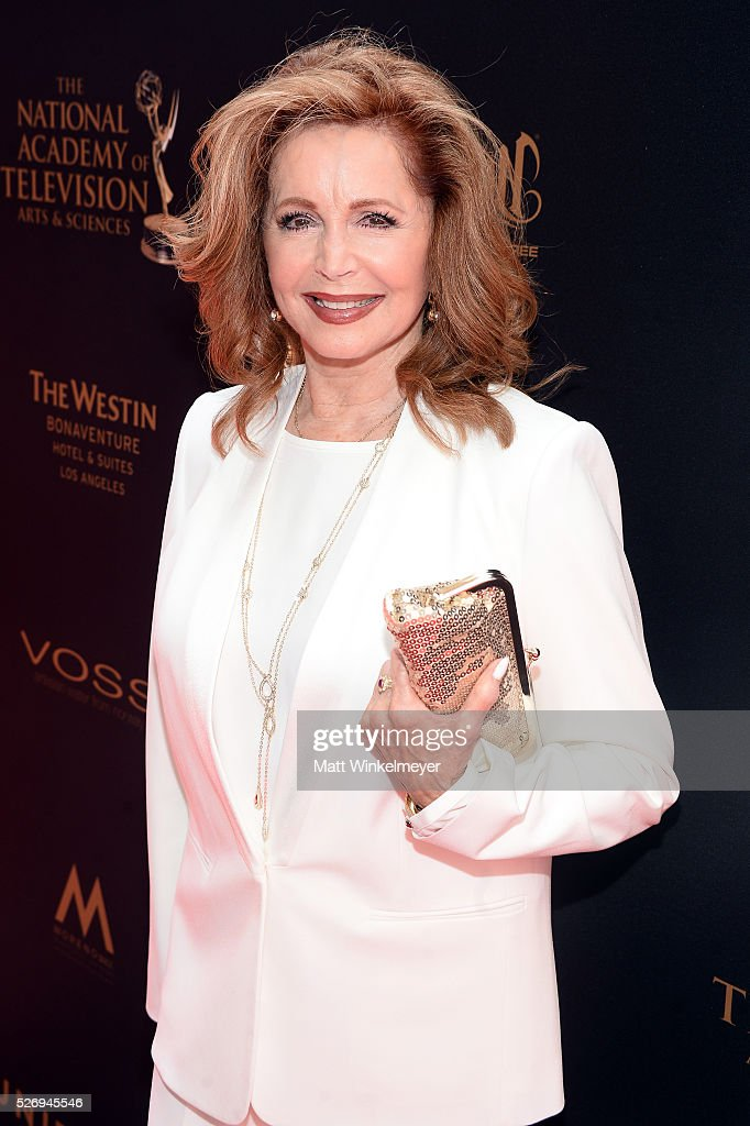 Actress Suzanne Rogers walks the red carpet at the 43rd Annual Daytime Emmy Awards at the Westin Bonaventure Hotel on May 1, 2016 in Los Angeles, California.