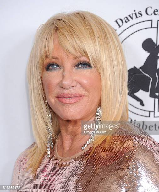 Actress Suzanne Somers arrives at the 2016 Carousel Of Hope Ball at The Beverly Hilton Hotel on October 8 2016 in Beverly Hills California