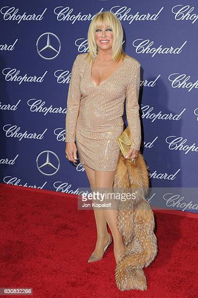 Actress Suzanne Somers arrives at the 28th Annual Palm Springs International Film Festival Film Awards Gala at Palm Springs Convention Center on...