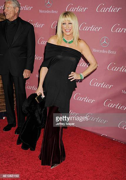 Actress Suzanne Somers attends the 26th Annual Palm Springs International Film Festival Awards Gala at the Palm Springs Convention Center on January...