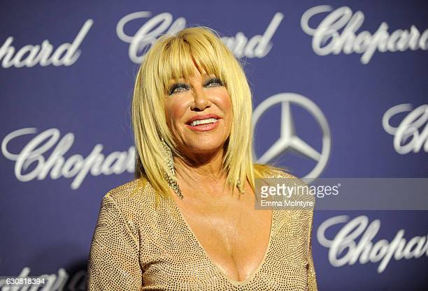 Actress Suzanne Somers attends the 28th Annual Palm Springs International Film Festival Film Awards Gala at the Palm Springs Convention Center on...