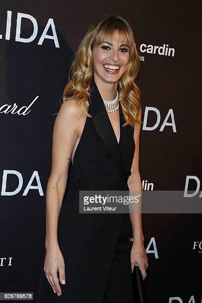 Actress Sveva Alviti attends 'Dalida' Paris Premiere at L'Olympia on November 30 2016 in Paris France