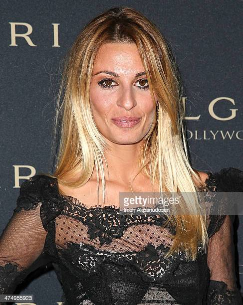 Actress Sveva Alviti attends the BVLGARI 'Decades of Glamour' Oscar Party at Soho House on February 25 2014 in West Hollywood California