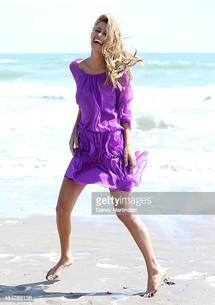 Actress Sveva Alviti is seen on the beach on Day 2 of the 71st Venice International Film Festival on August 28 2014 in Venice Italy