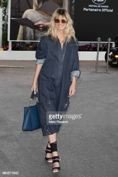 Actress Sveva Alviti is spotted during the 70th annual Cannes Film Festival at on May 18 2017 in Cannes France