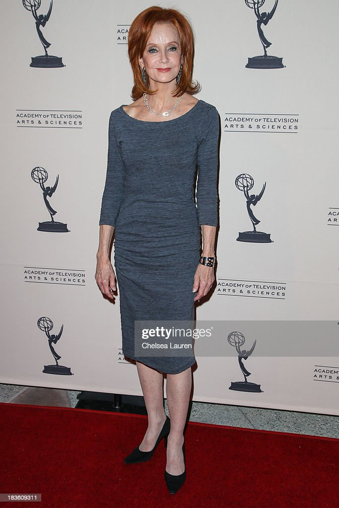 Actress Swoosie Kurtz arrives at 'An Evening Honoring James Burrows' at Academy of Television Arts & Sciences on October 7, 2013 in North Hollywood, California.