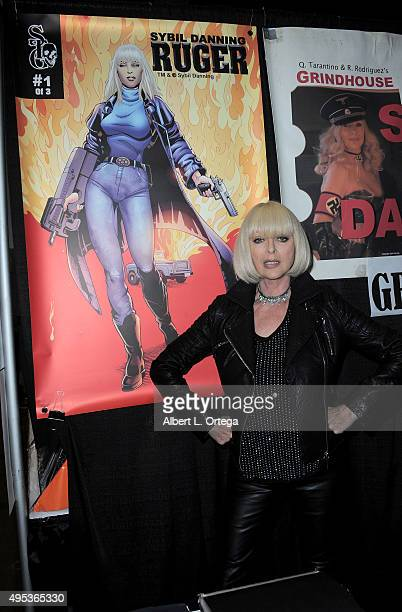 Actress Sybil Danning attends Day Three of Stan Lee's Comikaze Expo held at Los Angeles Convention Center on November 1 2015 in Los Angeles California