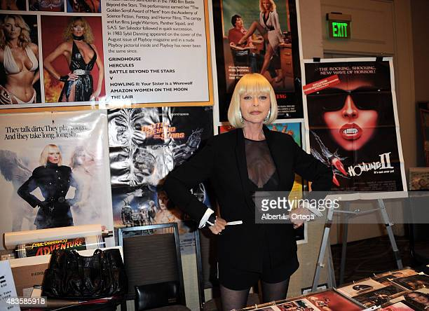 Actress Sybil Danning on day 1 of The Hollywood Show held at The Westin Hotel LAX on August 1 2015 in Los Angeles California