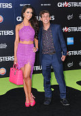 Actress Syd Wilder and snapchat content creator Danny Berk attend the premiere of Sony Pictures' 'Ghostbusters' at TCL Chinese Theatre on July 9 2016...