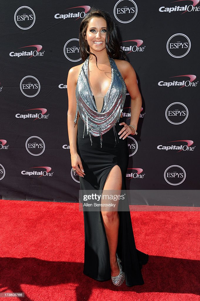 Actress Syd Wilder arrives at the 2013 ESPY Awards at Nokia Theatre L.A. Live on July 17, 2013 in Los Angeles, California.