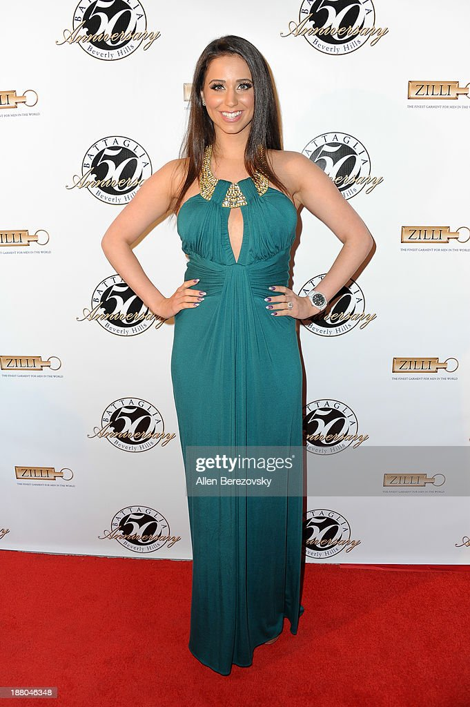 Actress Syd Wilder attends the Battaglia's 50th Anniversary of Quality & Elegance Celebration on November 14, 2013 in Beverly Hills, California.