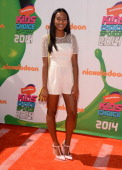 Actress Sydney Park attends Nickelodeon Kids' Choice Sports Awards 2014 at UCLA's Pauley Pavilion on July 17 2014 in Los Angeles California