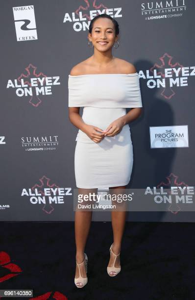 Actress Sydney Park attends the premiere of Lionsgate's 'All Eyez On Me' on June 14 2017 in Los Angeles California