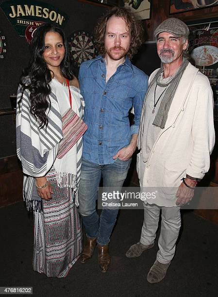 Actress Sydney Tamiia Poitier director Dennis Hauck and actor Jeff Fahey attend the 'Too Late' premiere after party for the 2015 Los Angeles Film...
