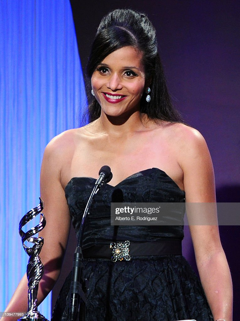 Actress Sydney Tamiia Poitier onstage during the 14th Annual Costume Designers Guild Awards With Presenting Sponsor Lacoste held at The Beverly Hilton hotel on February 21, 2012 in Beverly Hills, California.