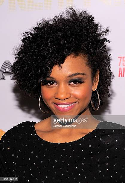 Actress Syesha Mercado attends the opening night after party for 'Dreamgirls' at Riverside Church on November 22 2009 in New York City