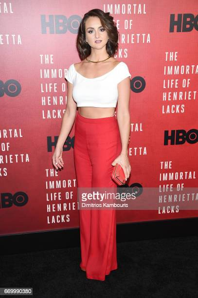 Actress Sylvia Grace Crim attends 'The Immortal Life of Henrietta Lacks' premiere at SVA Theater on April 18 2017 in New York City