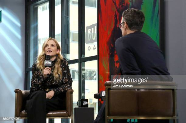 Actress Sylvia Hoeks and moderator Ricky Camilleri attend Build to discuss 'Blader Runner 2049' at Build Studio on October 11 2017 in New York City