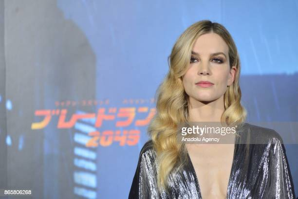 Actress Sylvia Hoeks attends the Premiere of the movie Blade Runner 2049 in Tokyo Japan on October 24 2017