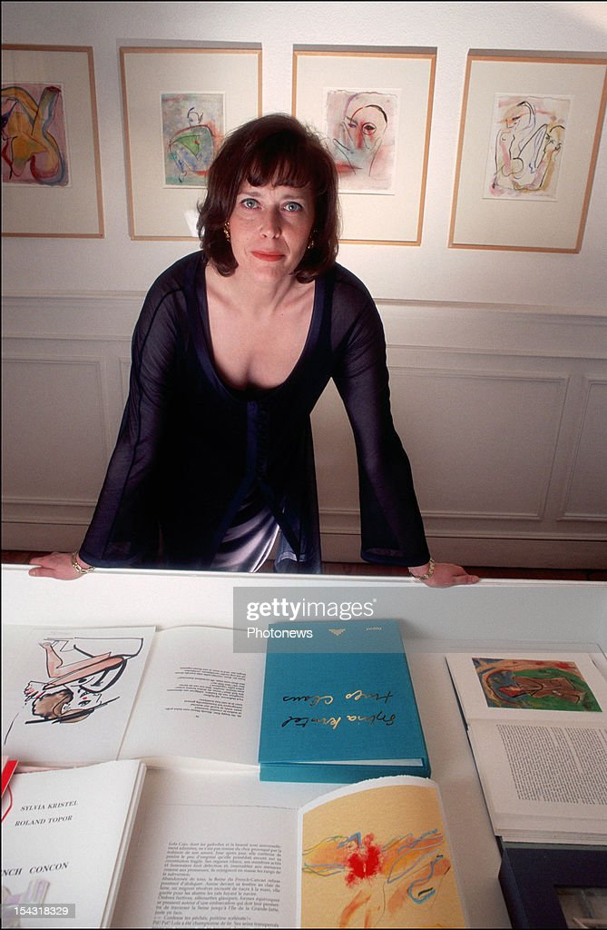 Actress <a gi-track='captionPersonalityLinkClicked' href=/galleries/search?phrase=Sylvia+Kristel&family=editorial&specificpeople=1671851 ng-click='$event.stopPropagation()'>Sylvia Kristel</a> pictured during an interview on February 14, 1995 in Brussels, Belgium.