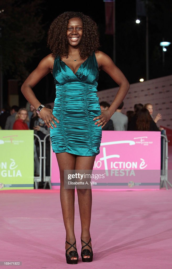 Actress Sylvie Lubamba attends the 2012 RomaFictionFest Closing Cerimony at Auditorium Parco della Musica on October 5, 2012 in Rome, Italy.