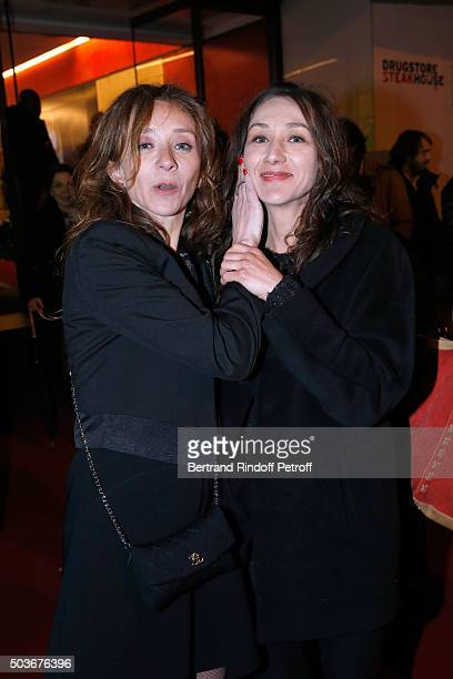 Actress Sylvie Testud and her sister Ghislaine Testud attend the 'Arrete Ton Cinema ' Paris Premiere at Publicis Champs Elysees on January 6 2016 in...
