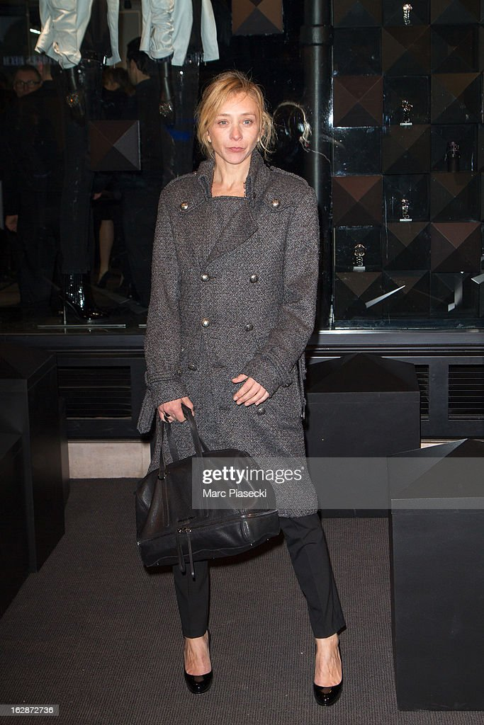 Actress Sylvie Testud attends the Karl Lagerfeld's Concept Store Opening as part of Paris Fashion Week on February 28, 2013 in Paris, France.