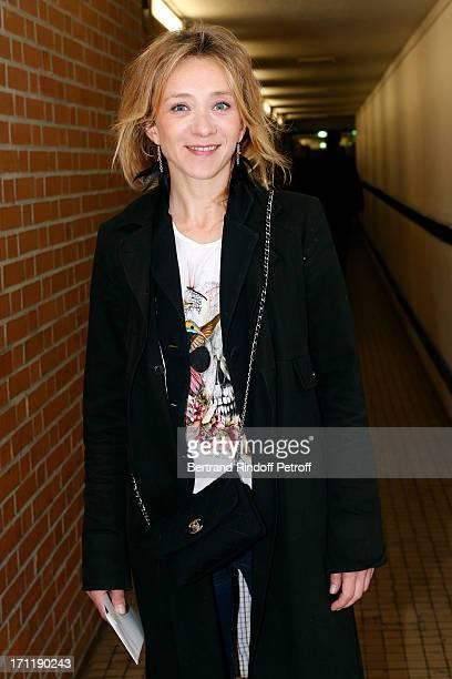 Actress Sylvie Testud attends the last concert in Paris of Patrick Bruel held at Palais Omnisports de Bercy on June 22 2013 in Paris France