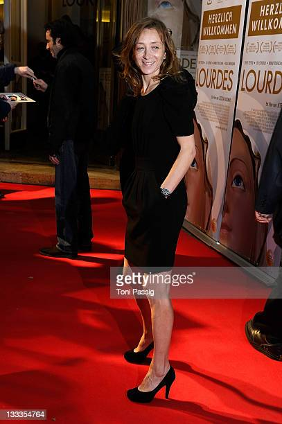 Actress Sylvie Testud attends the 'Lourdes' Germany Premiere at Cinema Paris on March 28 2010 in Berlin Germany