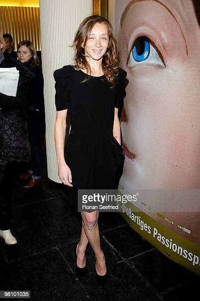 Actress Sylvie Testud attends the premiere of 'Lourdes' at cinema Paris on March 28 2010 in Berlin Germany