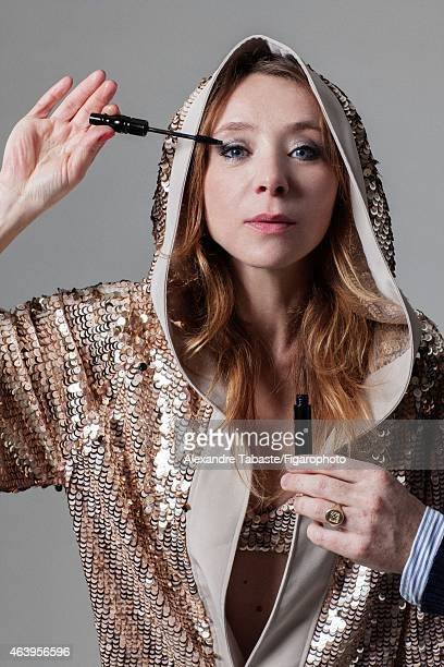 Actress Sylvie Testud is photographed for Madame Figaro on January 13 2015 in Paris France Robe and bra Mascara PUBLISHED IMAGE CREDIT MUST READ...