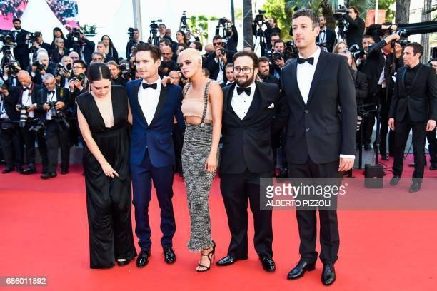 Actress Syndney Lopez actor Josh Kaye Director/Screenwriter Kristen Stewart producer David Shapiro and editor Jacob Secher Schulsinger pose as they...