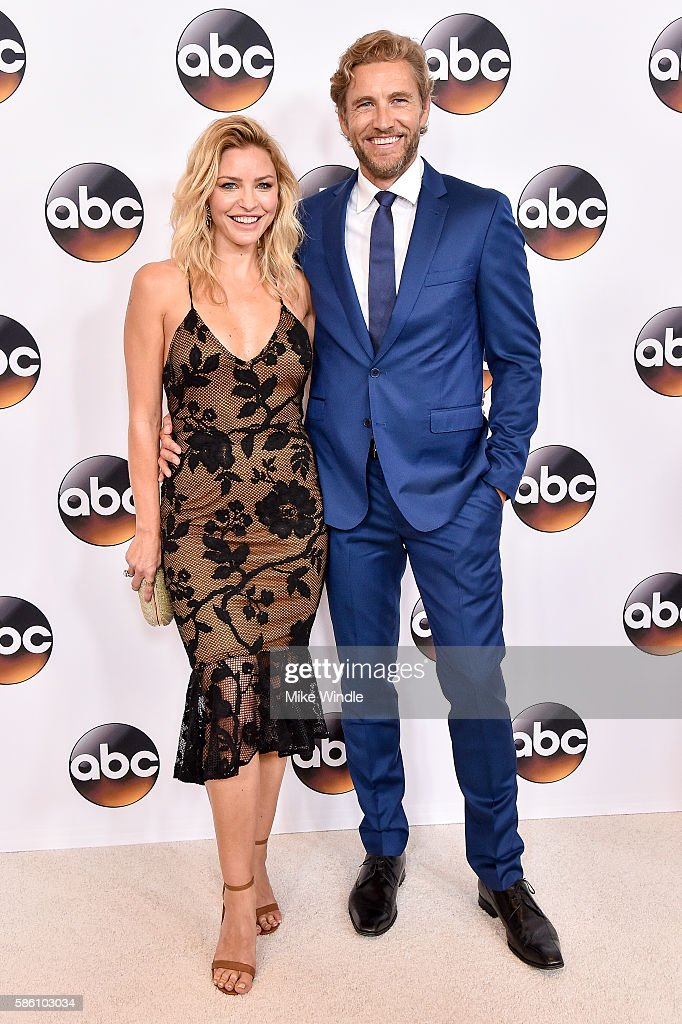 Actress Tabrett Bethell (L) and actor Brett Tucker attend the Disney ABC Television Group TCA Summer Press Tour on August 4, 2016 in Beverly Hills, California.