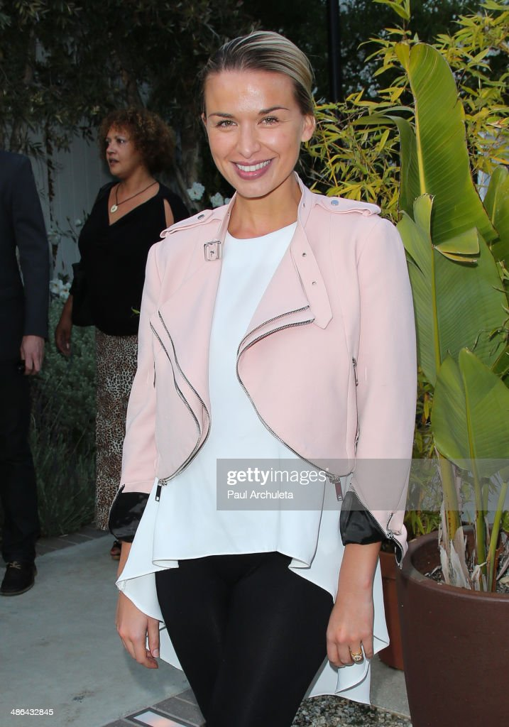 Actress Tahyna Tozzi attends the launch for the new Australian theatre company and the first production 'Holding The Man'on April 23 2014 in Los...
