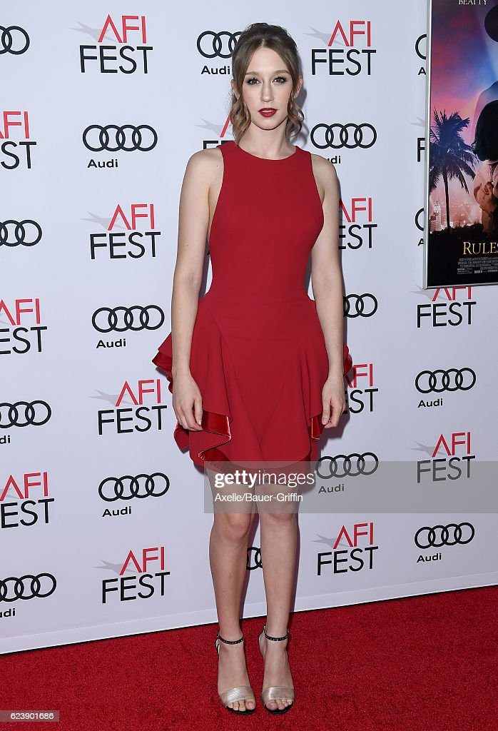 Actress Taissa Farmiga arrives at AFI FEST 2016 Presented by Audi - Opening Night - Premiere of 20th Century Fox's 'Rules Don't Apply' at TCL Chinese Theatre on November 10, 2016 in Hollywood, California.