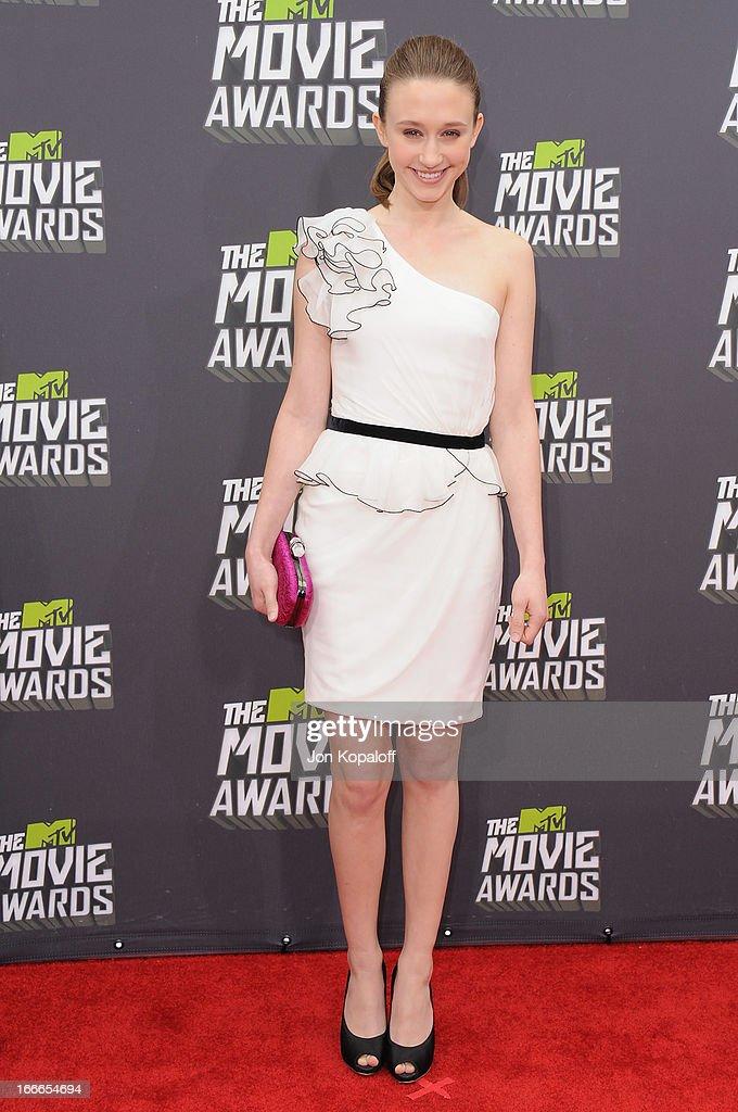 Actress Taissa Farmiga arrives at the 2013 MTV Movie Awards at Sony Pictures Studios on April 14, 2013 in Culver City, California.