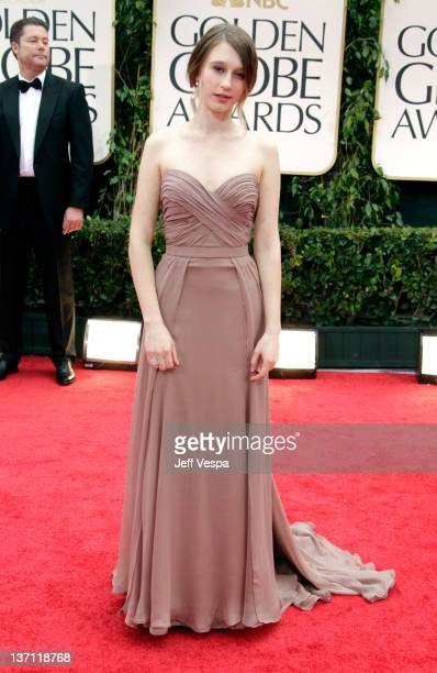 Actress Taissa Farmiga arrives at the 69th Annual Golden Globe Awards held at the Beverly Hilton Hotel on January 15 2012 in Beverly Hills California