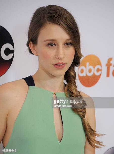 Actress Taissa Farmiga arrives at the Disney ABC Television Group's 2015 TCA Summer Press Tour on August 4 2015 in Beverly Hills California