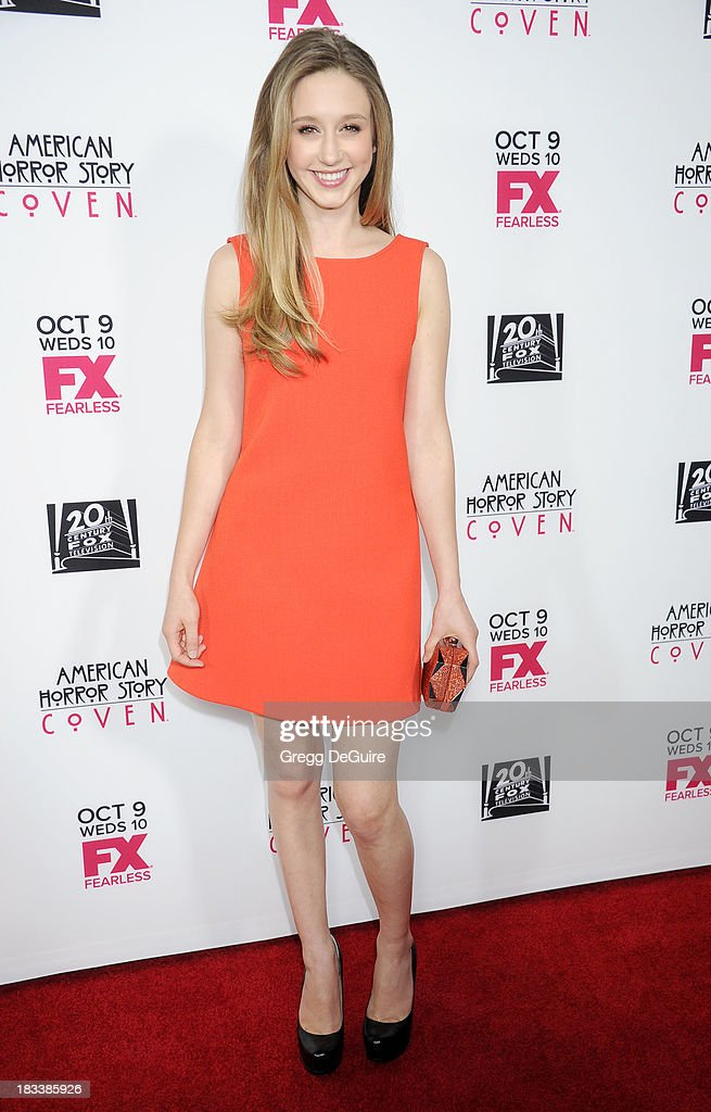 Actress Taissa Farmiga arrives at the Los Angeles premiere of FX's 'American Horror Story: Coven' at Pacific Design Center on October 5, 2013 in West Hollywood, California.