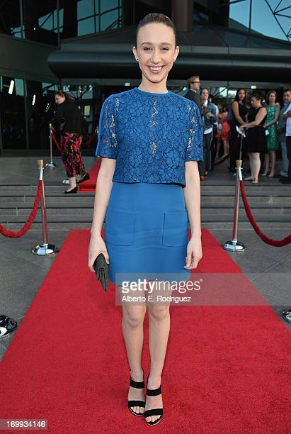 Actress Taissa Farmiga arrives to the Los Angeles premiere of A24's 'The Bling Ring' at the Directors Guild Theater on June 4 2013 in Los Angeles...