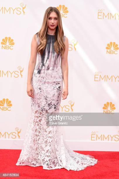 Actress Taissa Farmiga attends the 66th Annual Primetime Emmy Awards held at Nokia Theatre LA Live on August 25 2014 in Los Angeles California