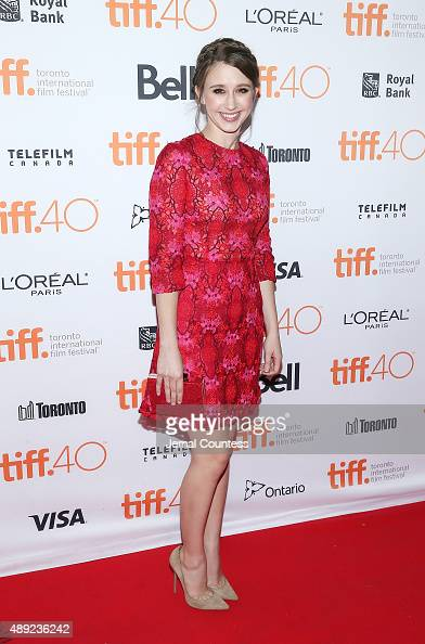 Actress Taissa Farmiga attends the 'Final Girls' photo call during the 2015 Toronto International Film Festival at the Ryerson Theatre on September...
