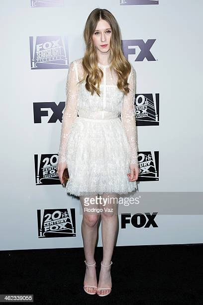 Actress Taissa Farmiga attends the Fox and FX's 2014 Golden Globe Awards Party on January 12 2014 in Beverly Hills California