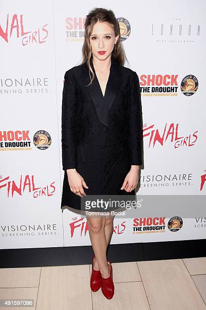 Actress Taissa Farmiga attends the premiere of Vertical Entertainment's 'The Final Girls' held at The London Hotel on October 6 2015 in West...