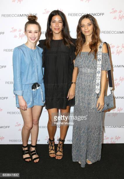 "Actress Taissa Farmiga designer Rebecca Minkoff and actress Angela Sarafyan attended designer Rebecca Minkoff's Spring 2017 ""See Now Buy Now"" Fashion..."
