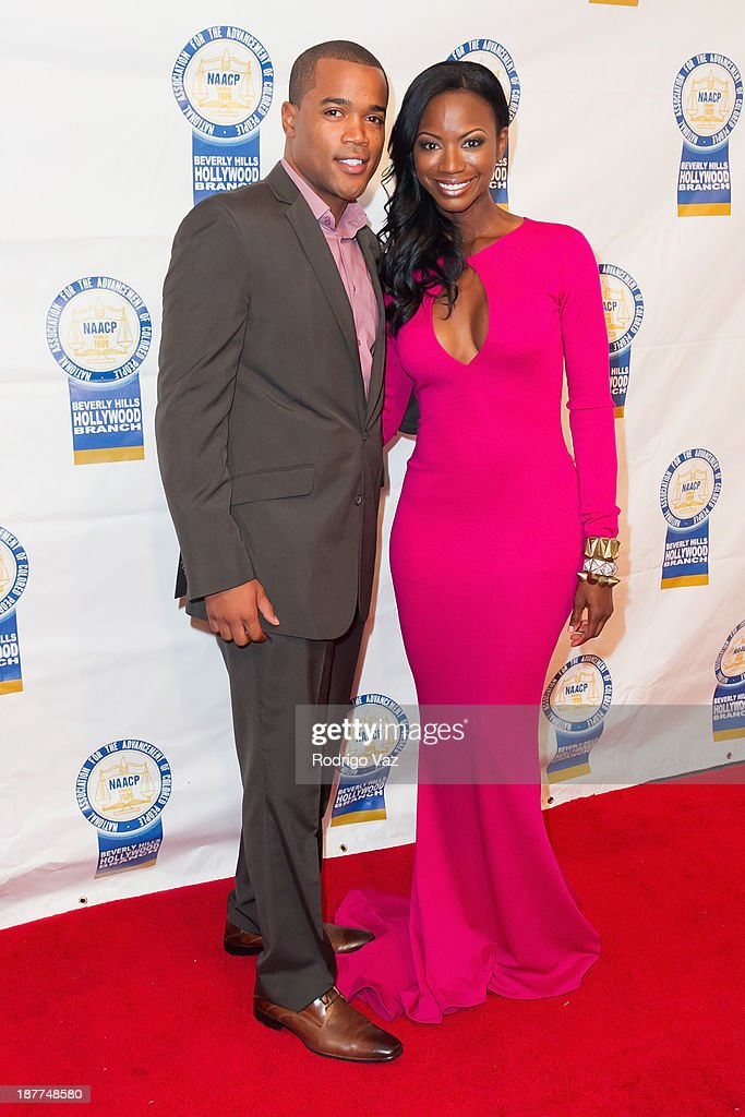 Actress Taja Simpson (R) attends the 23rd Annual NAACP Theatre Awards at Saban Theatre on November 11, 2013 in Beverly Hills, California.