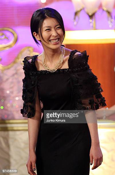Actress Takako Matsu attends during the 33rd Japan Academy Aawrds at Grand Prince Hotel New Takanawa on March 5 2010 in Tokyo Japan Actor Ken...