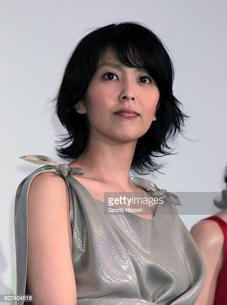 Actress Takako Matsu attends opening day stage greeting of film 'Confessions' on June 5 2010 in Tokyo Japan